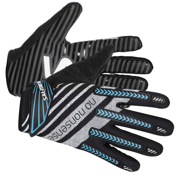 Salming Travis ProGrip Gloves Black/Cyan